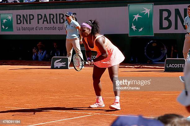 Serena Williams won the Last Point of the Women Final against Lucie Safarova during the 2015 Roland Garros French Tennis Open - Day Fourteen, on June...