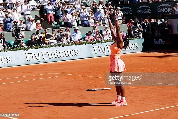 Serena Williams won the Women Final against Lucie Safarova during the 2015 Roland Garros French Tennis Open - Day Fourteen, on June 6, 2015 in Paris,...