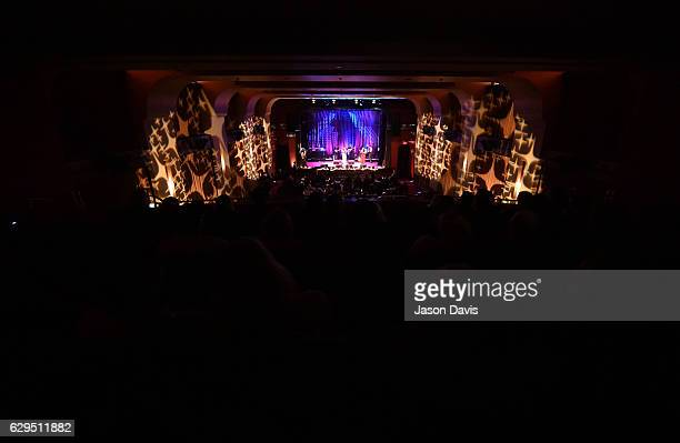 Serene Allison and Pearl Barret perform onstage during A Welby Street Christmas Hosted by Serene Pearl at Franklin Theater on December 9 2016 in...