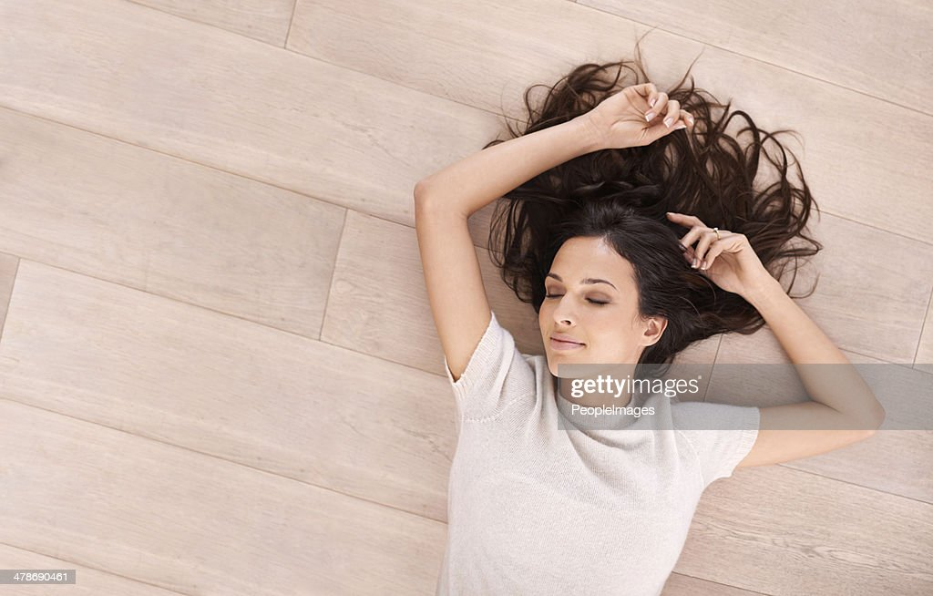 Serene beauty on the floor : Stock Photo