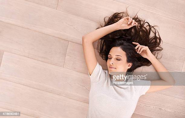 serene beauty on the floor - flooring stock photos and pictures