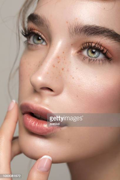 serene beauty - one young woman only stock pictures, royalty-free photos & images
