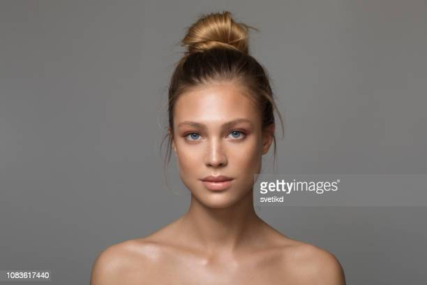 serene beauty - blonde hair stock pictures, royalty-free photos & images