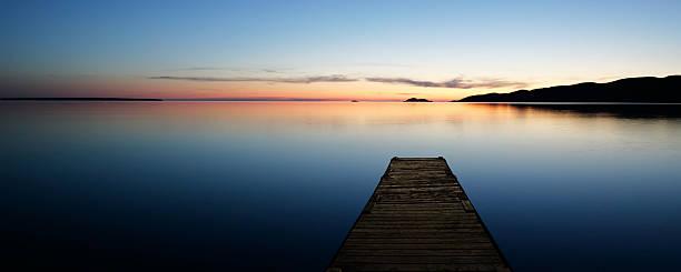 XL Serene Lake With Dock Wall Art