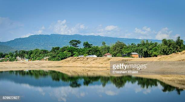 serene place to live! - bangladesh village stock photos and pictures