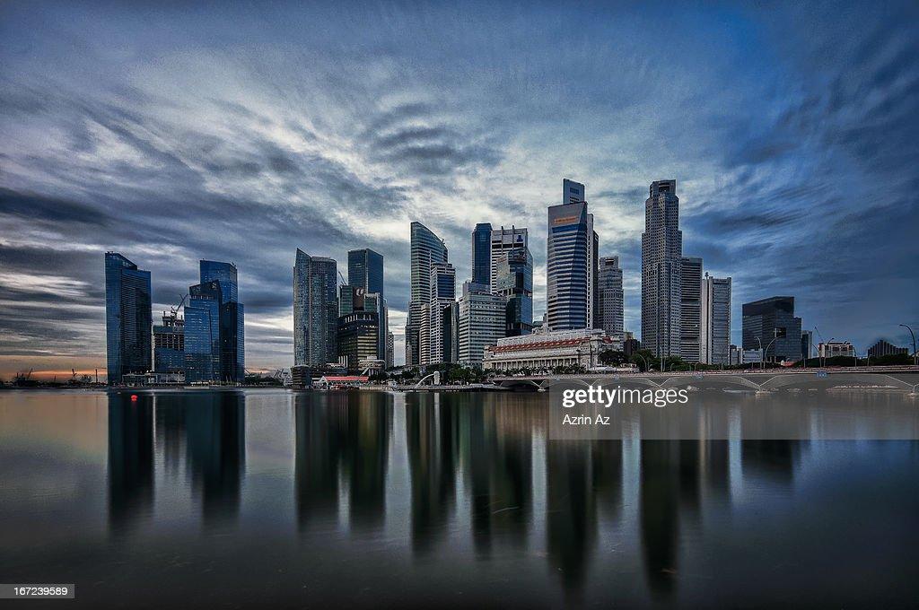 Serene Skyline : Stock Photo