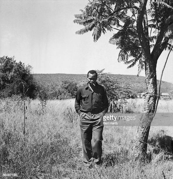 Seretse Khama, chief of the Bamangwato of Bechuanaland, 29th April 1950. Exiled in 1951, Khama returned in 1956 and in 1966 became the first...