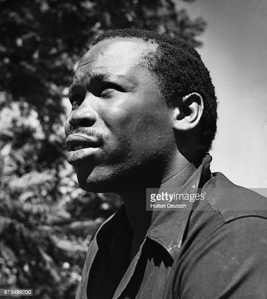 Seretse Khama, exiled chief of Bechuanaland's Bamangwato tribe, 1950. After the country gained independence he became President of the renamed...