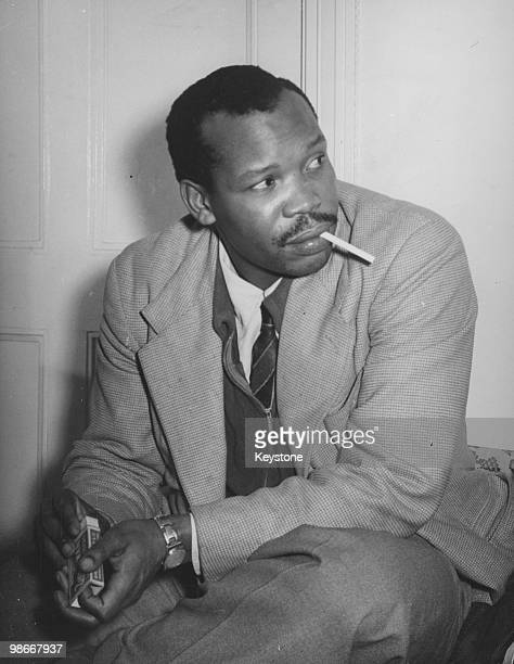 Seretse Khama , exiled kgosi of the Bamangwato people of the Bechuanaland Protectorate , London, 16th March 1950. Khama is in dispute with his uncle...