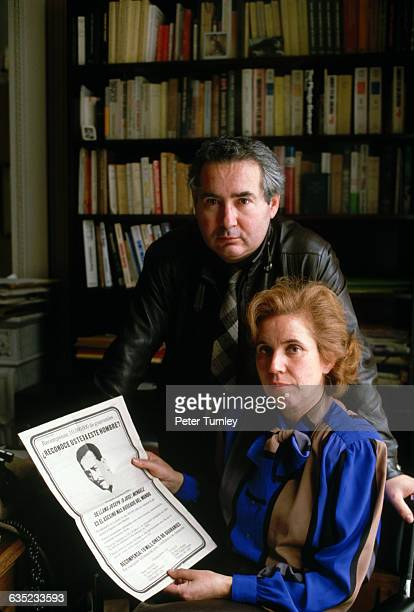 Serge and Beate Klarsfeld, France's most famous Nazi hunters, pose in their Paris law office. Serge was involved in the prosecution of Maurice Papon...