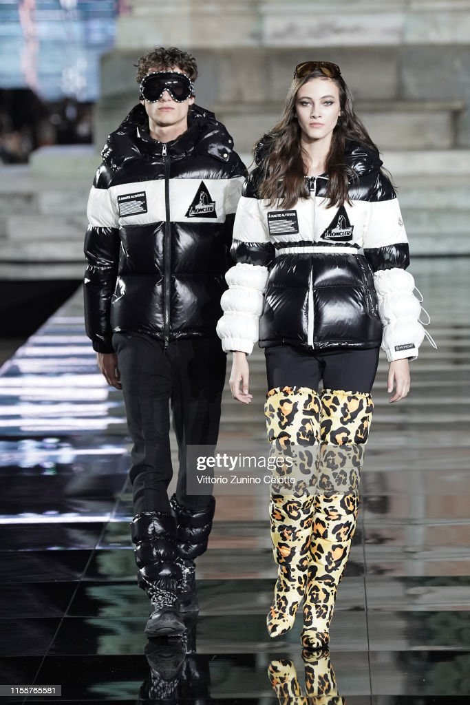 cheap for discount f0ad6 b9781 Serge and Greta walk the runway, wearing Moncler, at the CR ...