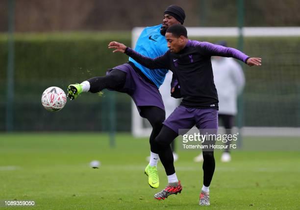 Serge Aurier and Kyle WalkerPeters of Tottenham Hotspur during the Tottenham Hotspur training session at Tottenham Hotspur Training Centre on January...
