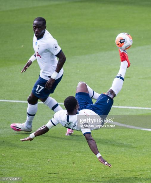 Serge Aurier and Moussa Sissoko of Tottenham Hotspur during the Premier League match between Crystal Palace and Tottenham Hotspur at Selhurst Park on...