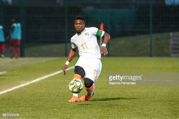 Serge Aurier of Ivory Coast during the International friendly match between Togo and Ivory Coast on March 24, 2018 in Beauvais, France.