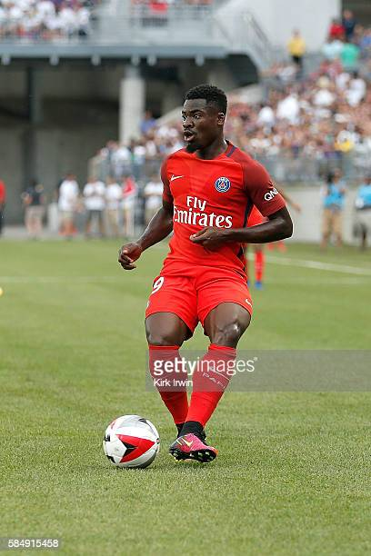 Serge Aurier of Paris SaintGermain FC controls the ball during the game against Real Madrid CF on July 27 2016 at Ohio Stadium in Columbus Ohio