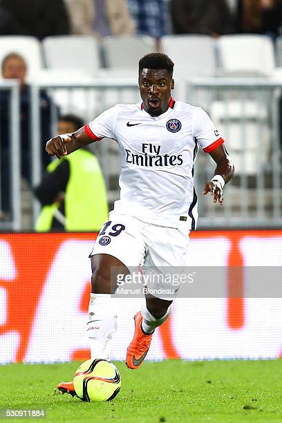Serge Aurier of Paris SG during the French Ligue 1 match between FC Girondins de Bordeaux and Paris SaintGermain at Nouveau Stade de Bordeaux on May...