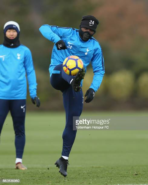 Serge Aurier of Tottenham during the Tottenham Hotspur training session at Tottenham Hotspur Training Centre on November 30 2017 in Enfield England