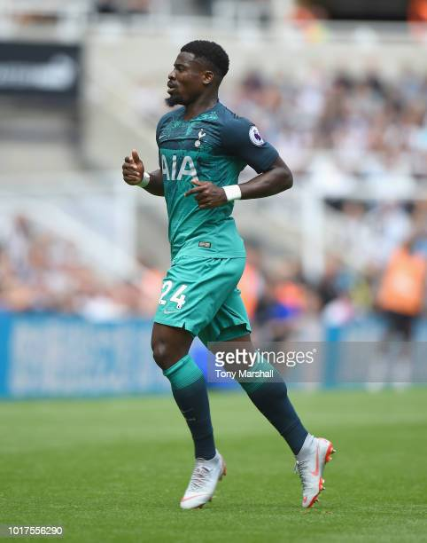 Serge Aurier of Tottenham Hotspur during the Premier League match between Newcastle United and Tottenham Hotspur at St James Park on August 11 2018...