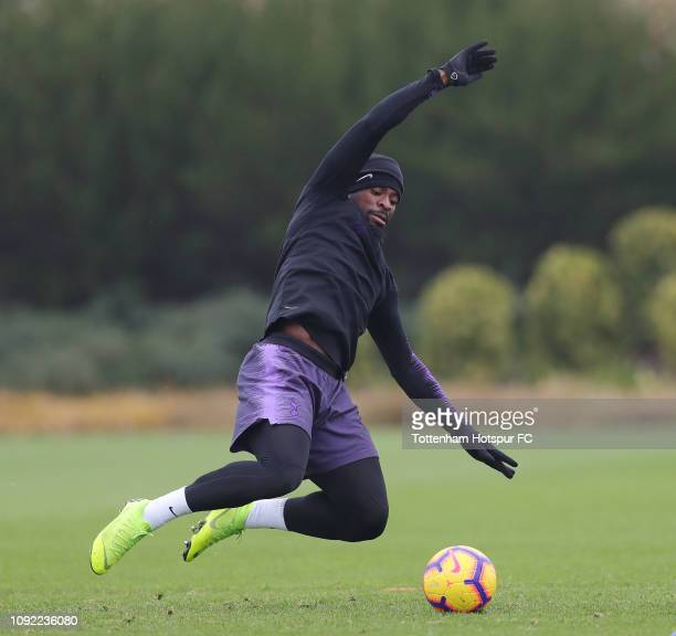 Serge Aurier of Tottenham Hotspur during the Tottenham Hotspur training session at Tottenham Hotspur Training Centre on January 10 2019 in Enfield...