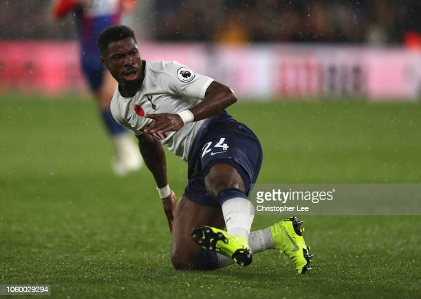 Serge Aurier of Tottenham Hotspur in action during the Premier League match between Crystal Palace and Tottenham Hotspur at Selhurst Park on November...