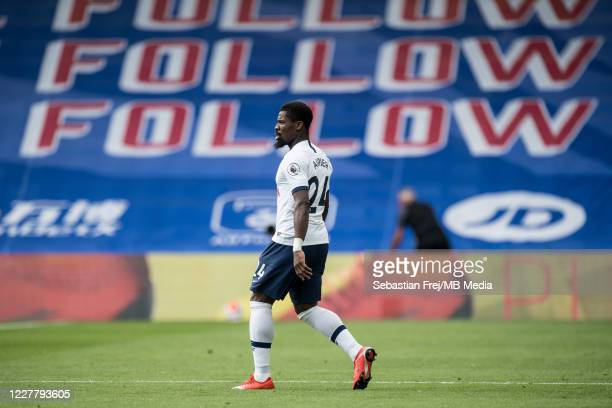 Serge Aurier of Tottenham Hotspur looks on during the Premier League match between Crystal Palace and Tottenham Hotspur at Selhurst Park on July 26...