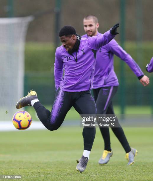 Serge Aurier of Tottenham Hotspur on February 08 2019 in Enfield England
