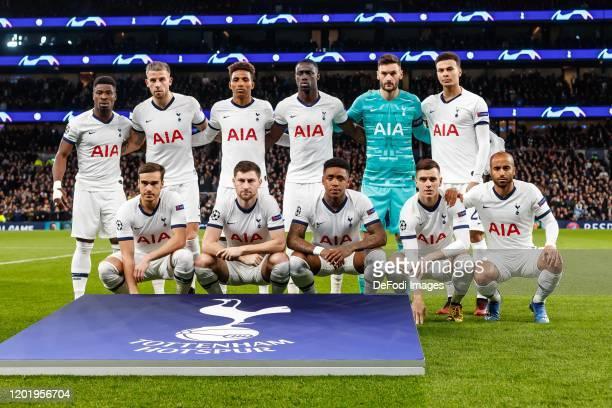 Serge Aurier of Tottenham Hotspur Toby Alderweireld of Tottenham Hotspur Gedson Fernandes of Tottenham Hotspur Davinson Sanchez of Tottenham Hotspur...