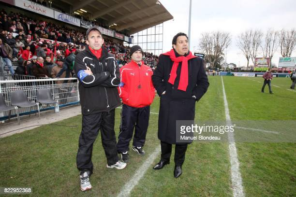 Serge Blanco / Jean Michel Gonzalez / Jack Isaac Biarritz / Bath Heineken Cup 2010/2011
