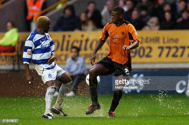 Serge Branco of QPR during the CocaCola Championship match between Wolverhampton Wanderers and Queens Park Rangers at Molineux on October 23 2004 in...