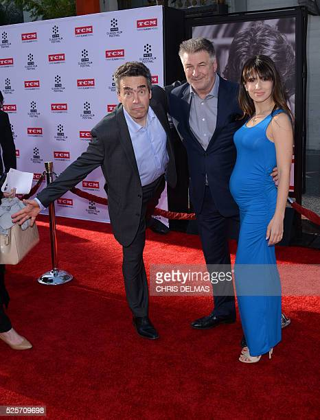 Serge Bromberg, Alec Baldwin and wife Hilaria attend the Opening Night Gala of the 2016 TCM Classic Film Festival celebrating The 40th Anniversary...