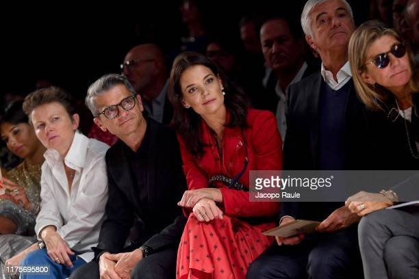 Serge Brunschwig Katie Holmes and guests attend the Fendi fashion show during the Milan Fashion Week Spring/Summer 2020 on September 19 2019 in Milan...
