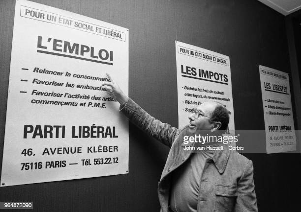 Serge Dassault announces the creation of a new Parti Libéral on February 20 1982 in Paris France Serge Dassault is an entrepreneur a conservative...