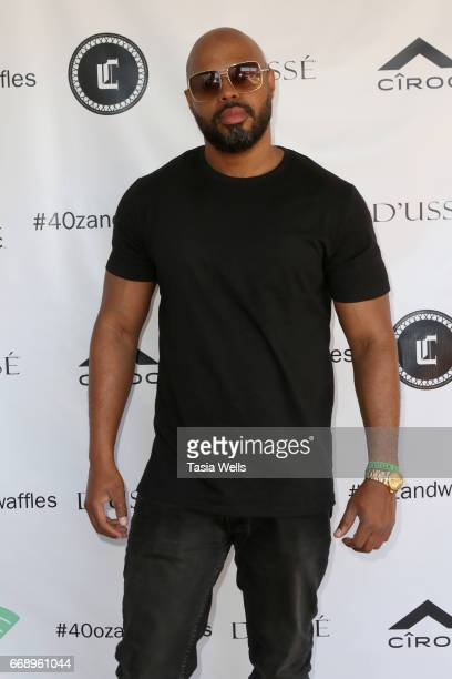 Serge Durand attends 40z and Waffles x Coachella Party on April 15 2017 in Palm Springs California