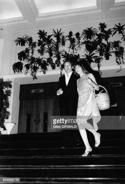 Serge Gainsbourg et Jane Birkin au Festival de Cannes en mai 1974 Cannes France