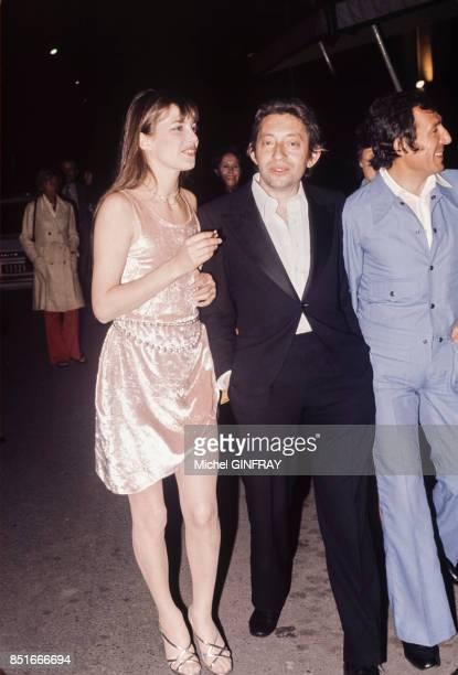 Serge Gainsbourg et Jane Birkin en 1974 à Cannes France
