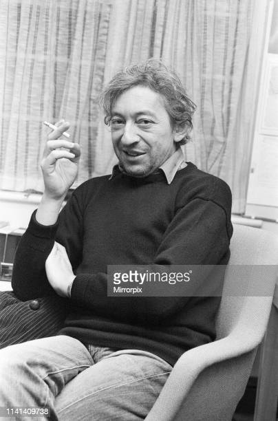 Serge Gainsbourg, in UK to launch the English version of his first novel, Yevgenii Sokolov : A Parabolic Tale, Pictured at the London offices of his...