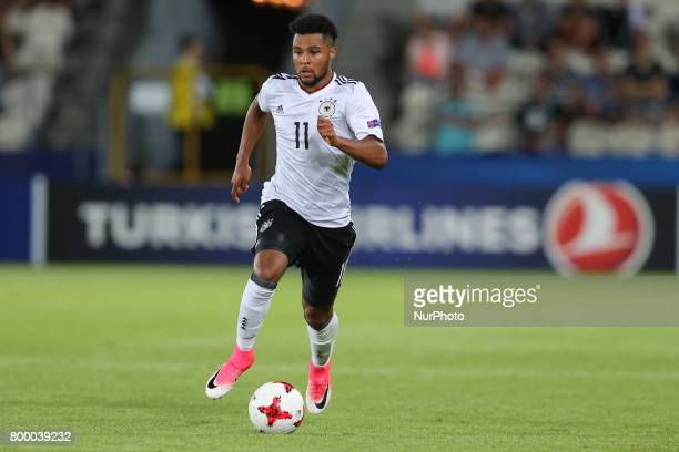 Serge Gnabry during the UEFA European Under21 Championship Group C match between Germany and Denmark at Krakow Stadium on June 21 2017 in Krakow...