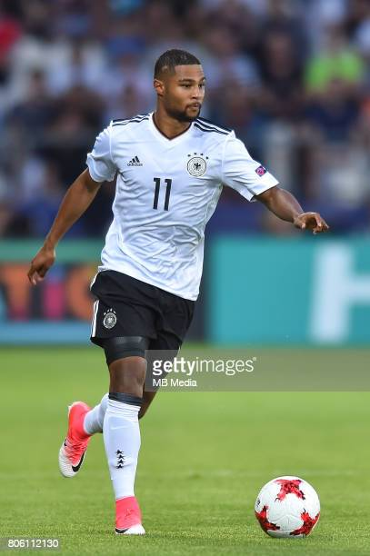 Serge Gnabry during the UEFA European Under21 final match between Germany and Spain on June 30 2017 in Krakow Poland