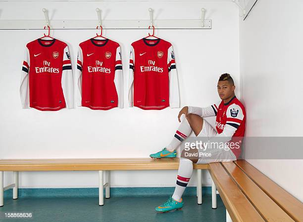 Serge Gnabry of Arsenal poses during a photo shoot at London Colney on December 05, 2012 in St Albans, England.