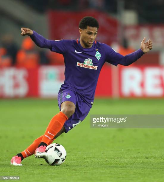 Serge Gnabry of Bremen controls the ball during to the Bundesliga match between 1 FC Koeln and Werder Bremen at RheinEnergieStadion on May 5 2017 in...