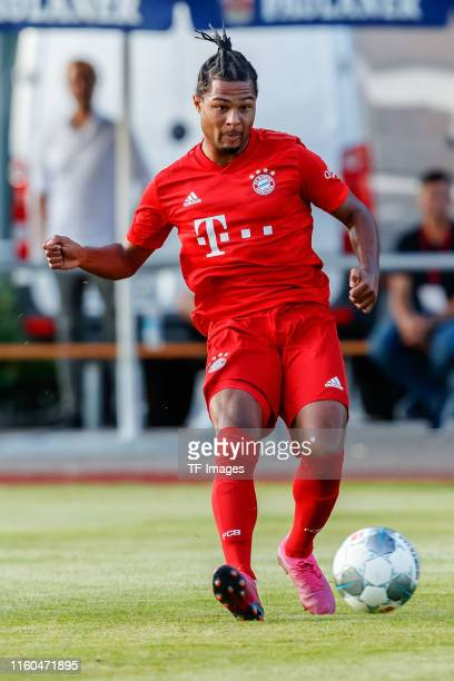 Serge Gnabry of FC Bayern Muenchen controls the ball during the preseason friendly match between FC RottachEgern and FC Bayern Muenchen on August 08...