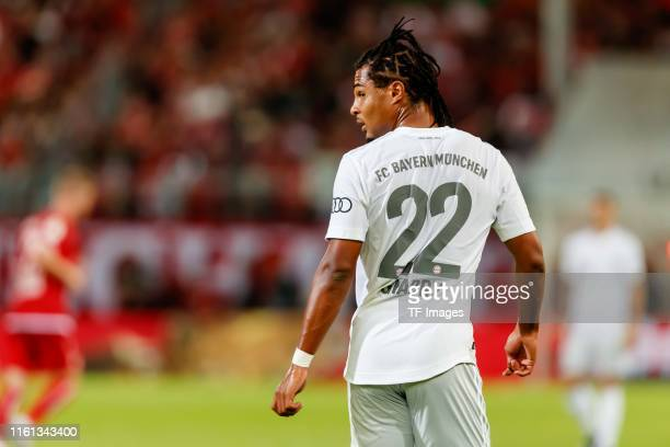 Serge Gnabry of FC Bayern Muenchen looks on during the DFB Cup first round match between Energie Cottbus and FC Bayern Muenchen at Stadion der...