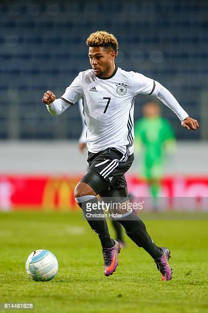 Serge Gnabry of Germany controls the ball during the 2017 UEFA European U21 Championships Qualifier between U21 Austria and U21 Germany at NV Arena...