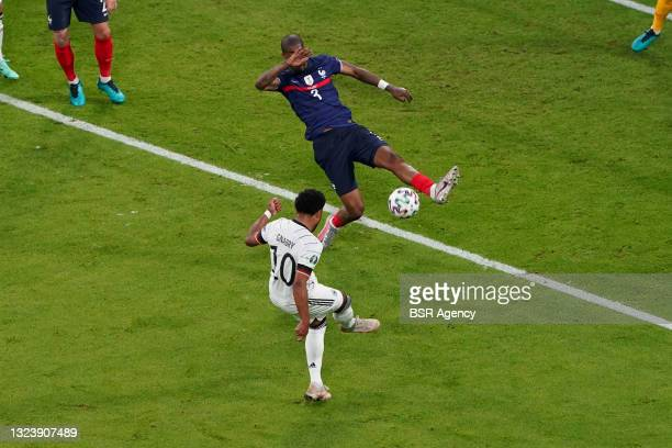 Serge Gnabry of Germany, Presnel Kimpembe of France during the UEFA Euro 2020 match between France and Germany at Allianz Arena on June 15, 2021 in...