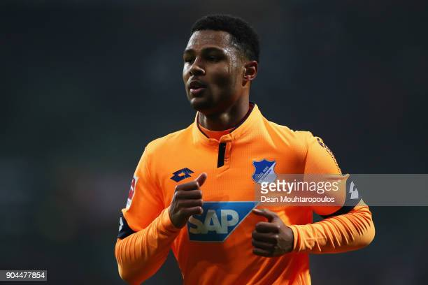 Serge Gnabry of TSG 1899 Hoffenheim in action during the Bundesliga match between SV Werder Bremen and TSG 1899 Hoffenheim at Weserstadion on January...