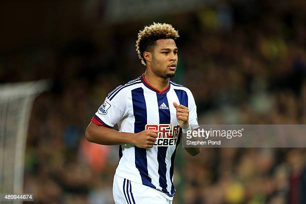 Serge Gnabry of West Bromwich Albion during the Capital One Cup Third Round match between Norwich City and West Bromwich Albion at Carrow Road on...