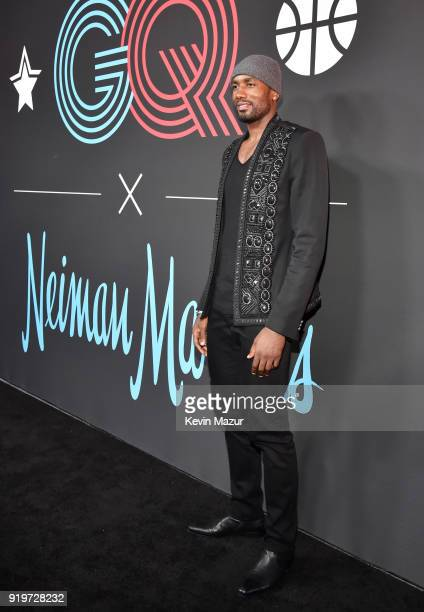 Serge Ibaka attends GQ's 2018 AllStars Celebration at Nomad Hotel Los Angeles on February 17 2018 in Los Angeles California