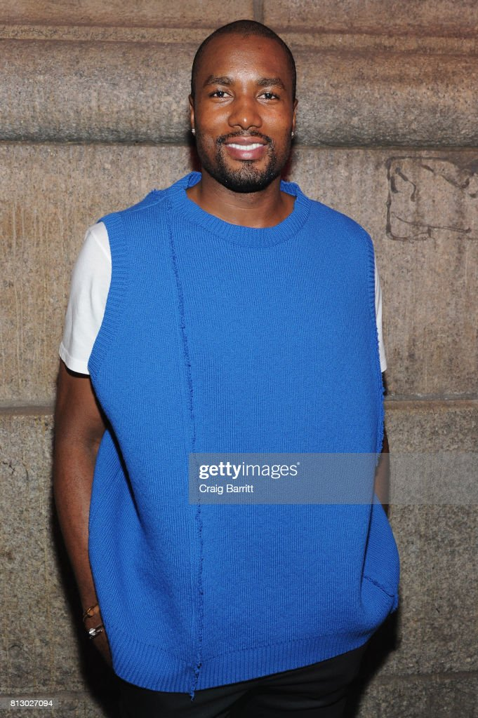 Serge Ibaka attends Raf Simons SS18 Runway Show with FIJI Water at Golden Sun Life Day Care on July 11, 2017 in New York City.
