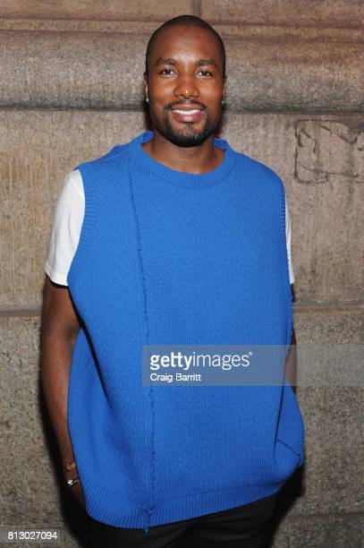 Serge Ibaka attends Raf Simons SS18 Runway Show with FIJI Water at Golden Sun Life Day Care on July 11 2017 in New York City