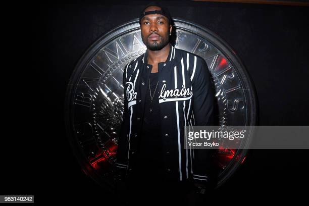 Serge Ibaka attends the Balmain after party as part of Paris Fashion Week on June 24 2018 in Paris France